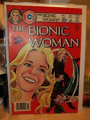 Charlton Comics The Bionic Woman 1 Vf+ Jack Sparling Cover 1977 Combine Shipping