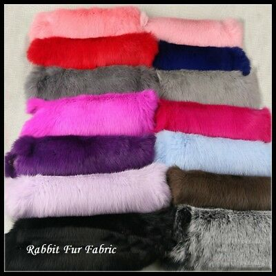 Faux Rabbit Fur Pelt Fabric For Costume Bag Scarf Accessories Crafts Fluffy Soft