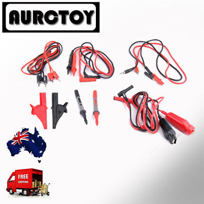 Multimeter test lead Set probe Alligator clip for Fluke Meter Victor  AU seller