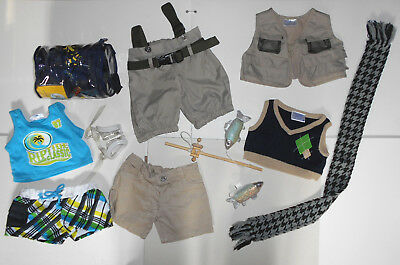 Build A Bear Fishing Trip Mixed Little Lot 12 Items  In Lovely Condition L@@k