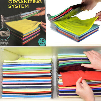 10 EZSTAX Fast Clothes Fold Board Organization System Travel Closet Drawer Stack