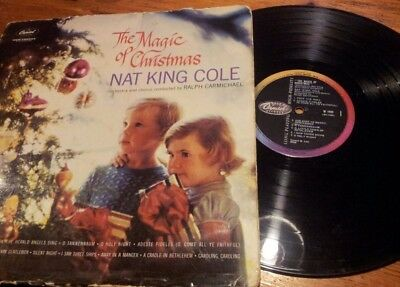 The Magic Of Christmas Lp! Vinyl Record! Nat King Cole! W1444! Capitol! Charity!
