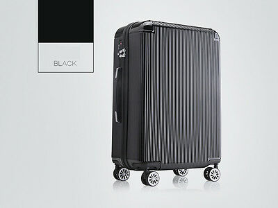 "28"" Black TSA Coded Lock Universal Wheel ABS+PC Travel Suitcase/Luggage Trolley*"
