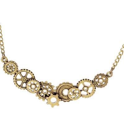 Vintage Gold Choker Collar Steampunk Necklace Victorian Fashion Jewelry