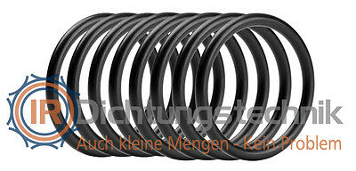 O-Ring Nullring Rundring 27,0 x 2,0 mm FKM 75 Shore A schwarz (8 St.)