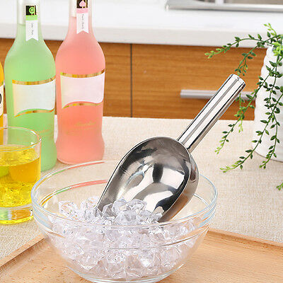 Stainless Steel Metal Wedding Candy Ice Cube Flour Hand Bar Buffet Scoop Tools