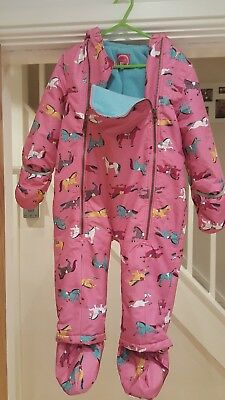 Joules Baby Everly Baby Girls Snow Suit - Size 18 - 24 mths -Great Condition