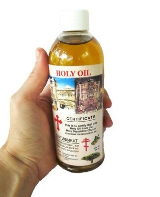 Anointing Oil - Olive oil 300 ml  100% pure Holyland Jerusalem Holy Sepulcher