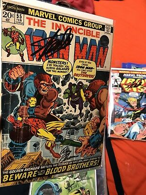 Iron Man 55 Signed Stan Lee & Roy Thomas