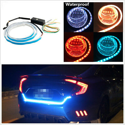 "59""/150cm White/Red/Yellow/Blue LED Car Flow Type Turn Signal Light Reverse Lamp"