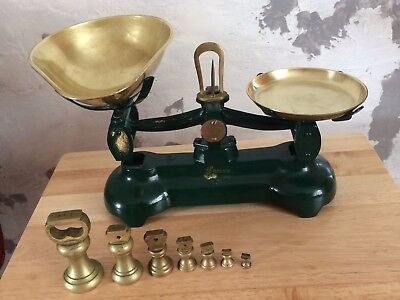 Vintage Librasco Kitchen Weighing Scales with weights