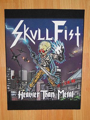 SKULL FIST Heavier Than Metal BACK PATCH printed NEW speed heavy metal