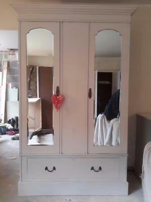 A Lovely painted vintage wardrobe.