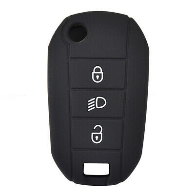 3 Button Silicone Flip Key Cover Case For Peugeot 208 2008 Remote Fob Shell