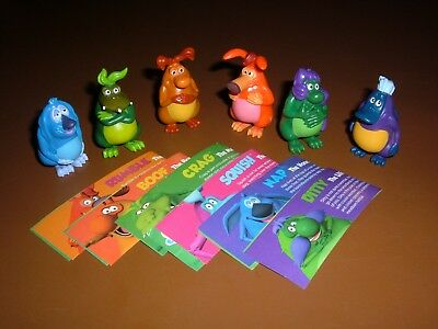 2017 Australian Series 1 Yowie Men Set Of 6 With Papers  Excellent