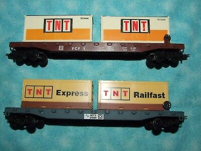 Ho Scale Australian Flat Container Wagons