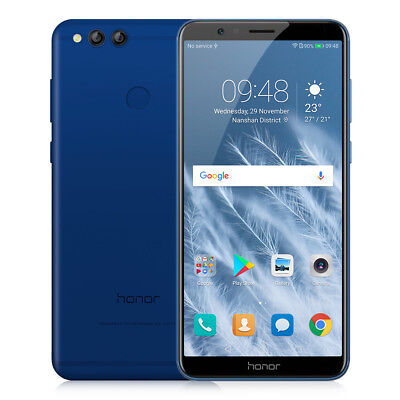 "5.93"" Huawei Honor 7X 4G Smartphone 4+64Go 8Core 3*Cam 16MP Android 7.0 OTA 18:9"