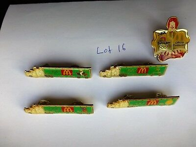 Lot 16/ 5 Sydney 2000 Olympic Games Pins Mcdonalds One Missing The Pin Back Clip