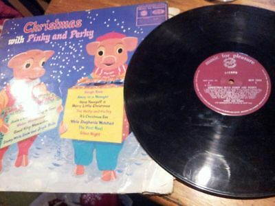 Christmas With Pinky And Perky Lp! Vinyl Record! Mfp 1342! Charity!