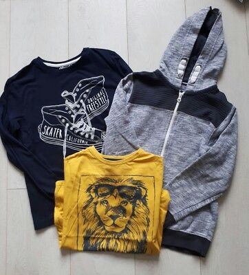 Boys clothes age 9-10 bundle. Long sleeve top,  t-shirt and zipped hoodie.