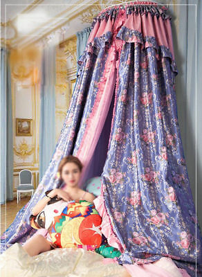 Queen Size Purple Ceiling Mosquito Net Bedding Bed Curtain Netting Canopy#