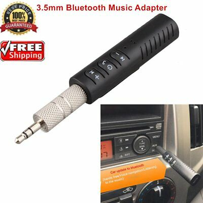 Wireless Bluetooth Phone To 3.5mm AUX Car Stereo Audio Music Receiver Adapter UU