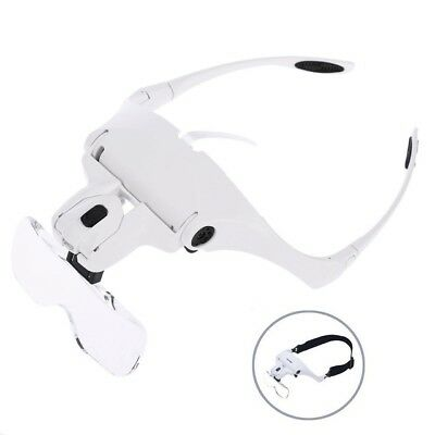 TDANCE 5Lens Headset Deluxe Magnifier Magnifying Glass Eyelash Extension (CH025)