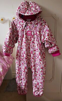 Girls snowsuit 12-18 months in pink. From Jojo Mama.
