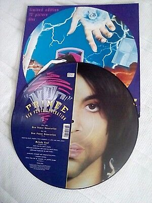 """PRINCE."""" NEW POWER GENERATION """".  W9525TP. PICTURE DISC. 12ins SINGLE."""