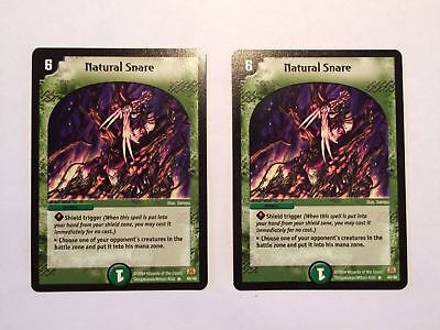 2 x * RARE * Natural Snare 44/46 Duel Masters Cards DuelMasters 99p