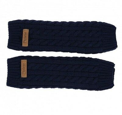 Sale Picture Womens Salma Leg Warmer Ladies Winter Snow Navy 50% Off!
