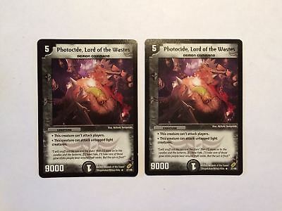 2 x * RARE * Photocide, Lord of the Wastes 27/46 Duel Masters DuelMasters 99p
