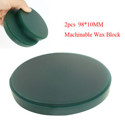 2pcs Machinable Wax Block Milling for Dental CAD/CAM System 98*10MM Easy Dentist