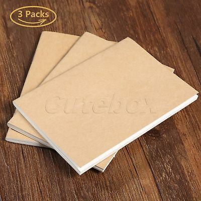 3 Set Blank Paper Refill For Travel Notepad Passport Notebook Diary Journal Memo