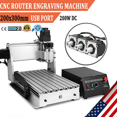 Usb Cnc Router Engraver Engraving Cutting 3 Axis 3020T Desktop Milling Cutter