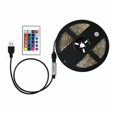 0.5/1/2/3/4/5M USB LED Strip Light RGB 5050 TV Back Lamp Colour Changing +Remote