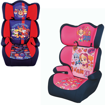 Paw Patrol Highback Child Car Seat Kids Toddler Safety Booster Chair Group 2/3