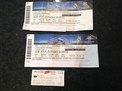 Real Madrid V Spurs Tickets (Bernebau) X 2