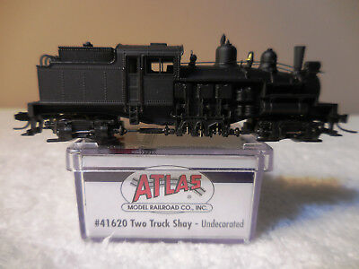 N Scale Atlas Undecorated Two Truck Shay DCC Ready Item #41620 NOS RARE!
