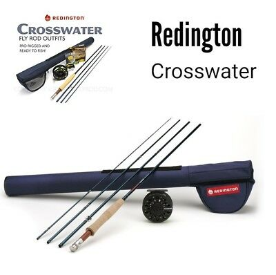 "Redington Crosswater 690-4 4 Pc Graphite Fly Combo Complete Kit 9'0"" 6Wt New"
