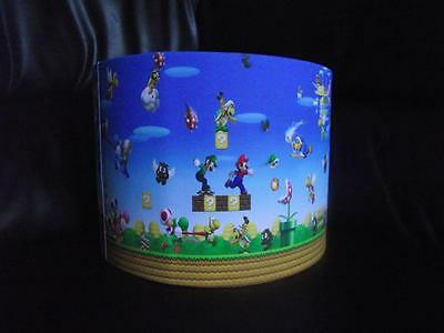 "Super Mario Bros 10"" Drum Ceiling Lampshade Lightshade"
