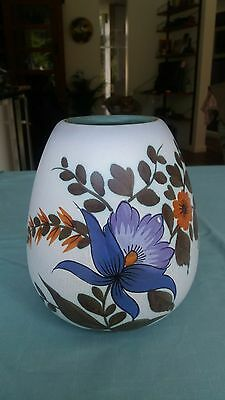 Superb Large Tall Dutch Flora Gouda Iris Vase 1960s Mid Century Mod ~ Model 1043