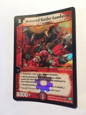 * RARE * Armored Raider Gandaval 62a/110 Duel Masters DuelMasters Card Holo Foil