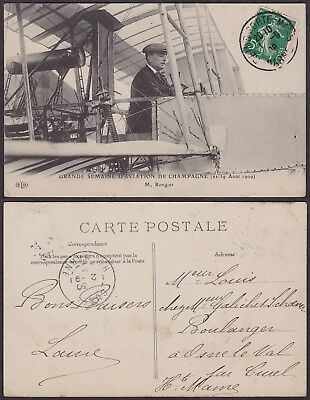 France 1909 - Postcard Aviation