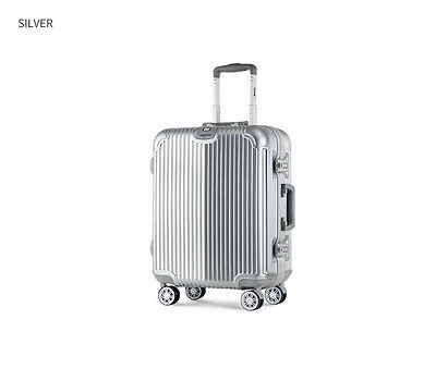 "18"" Silver TSA Coded Lock Universal Wheel ABS+PC Travel Suitcase/Luggage Trolley"
