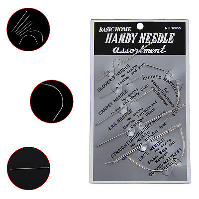 7pcs Sewing Needles Repair Kit Upholstery Carpet Sewing Leather Curved Canvas