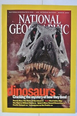 National Geographic Magazine. March, 2003. Dinosaurs. Cracking the Mystery how.