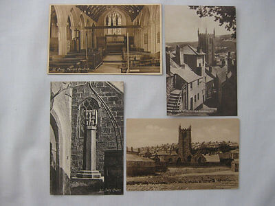 4 Francis Frith Views Of St Ives Church (Real Photo + 3 Printed Cards)