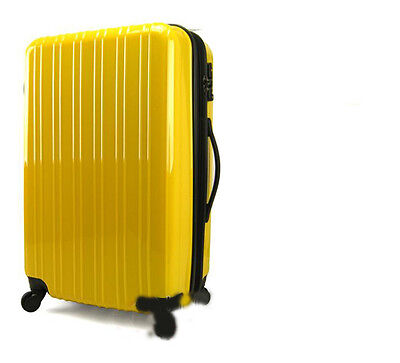 "New 28"" Yellow Height 75cm Universal Wheel ABS Travel Suitcase/Luggage Trolley"