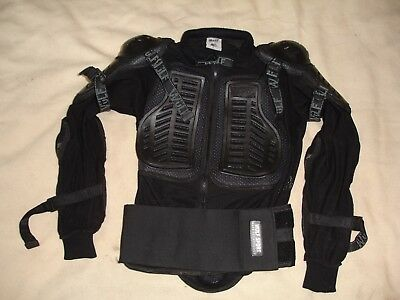 MOTOCROSS ENDURO TRAIL RIDING DOWNHILL ONE PIECE BODY ARMOUR by WULF SPORT LARGE